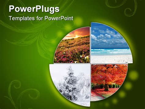 powerpoint template collage showing the four climatic