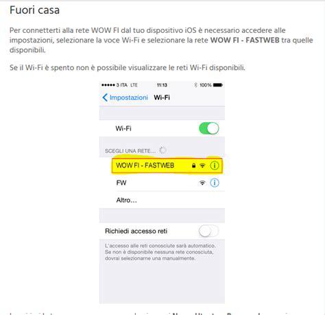 fastweb mobile funziona wow fi di fastweb come funziona il wi fi gratis e