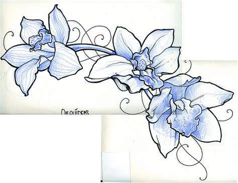 tattoo flash how to make orchid flash tattoo my design tattooed by saturno www