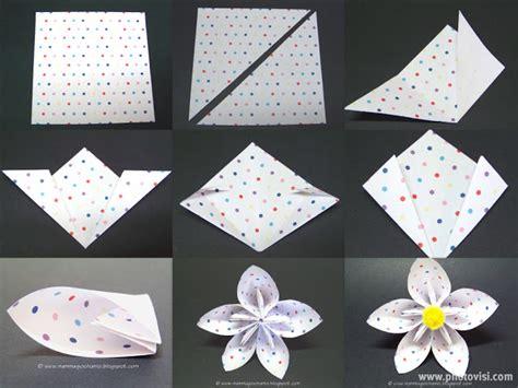 origami fiore facile mamma giochiamo lavoretti di pasqua primavera fiore di