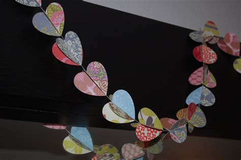 Craft Paper Hearts - christiney s crafts paper garland