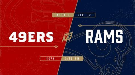 49er rams 49ers vs rams to victory