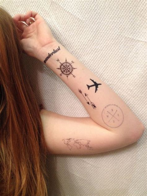 travelling tattoo designs 32 adventurous designs for travel addicts sortra