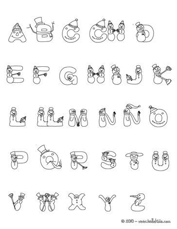 spanish letters coloring pages spanish snowman letters coloring pages hellokids com