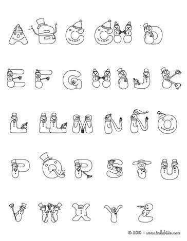 coloring pages spanish alphabet spanish snowman letters coloring pages hellokids com