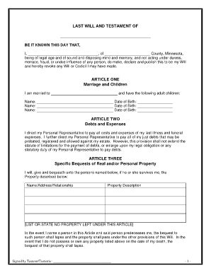 printable free last will and testament forms best photos of testament legal form sle last will and