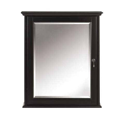 black bathroom medicine cabinet home decorators collection newport 24 in w x 28 in h