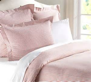 Blue Ticking Duvet Cover Vintage Ticking Stripe Duvet Cover Amp Sham Pottery Barn
