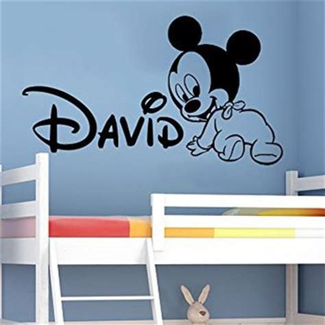 Mickey Mouse Bedroom Stickers by Wall Decals Personalized Name Mickey From