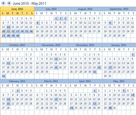 Kalender Jahresansicht Schedule Calendar Winforms Scheduler
