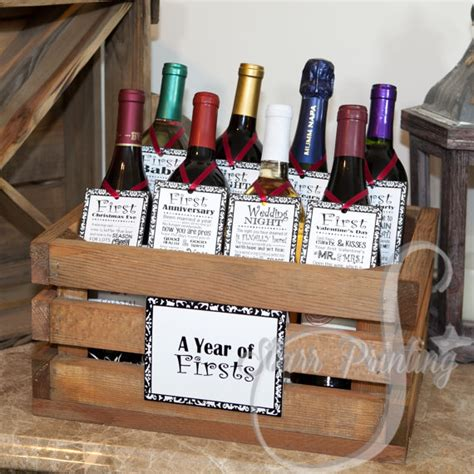 Wedding Gift Ideas Wine by Bridal Shower Wine Crate Gift Set With 8 Tags And Shower