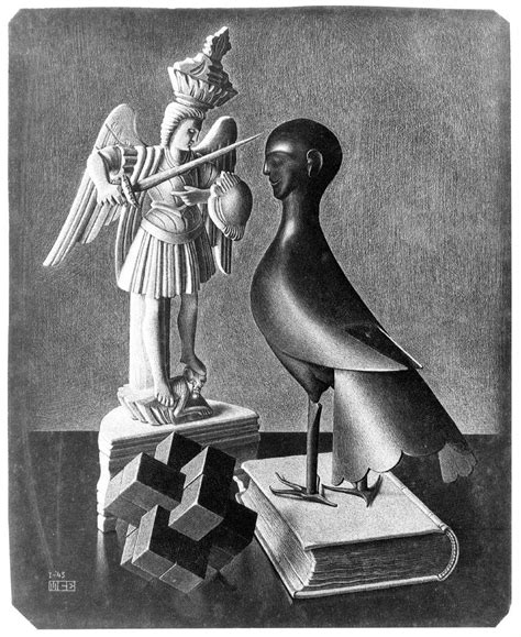 biography of escher the artist m c escher still life 1943 wikipaintings org artist
