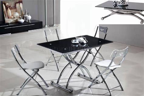 Metal Base Glass Top Dining Table Glass Top Metal Base Modern Adjustable Dining Table