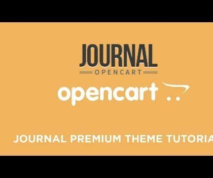 journal opencart template how to use journal opencart theme to build store all