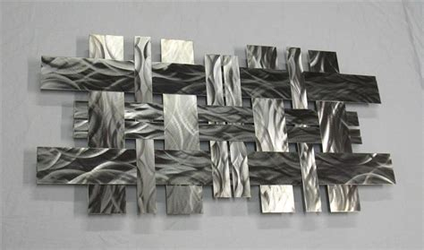 Home Interior Wall Hangings Contemporary Metal Wall Art Sculpture Stainless W2