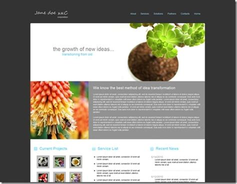 Free Green Business Web Site Template Expression Web Team Blog Microsoft Expressions Templates