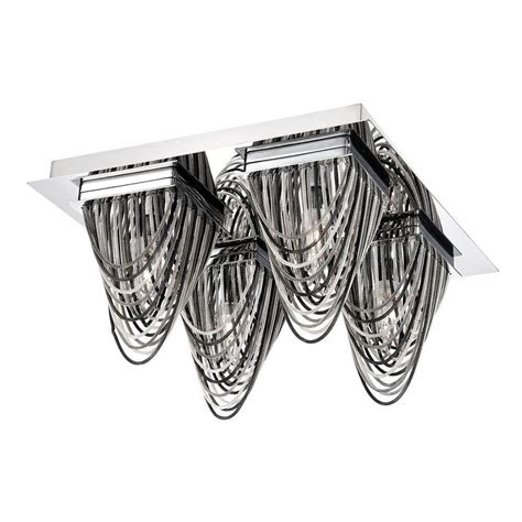 chrome flush mount ceiling light ove decors monaco 5 light chrome ceiling flushmount monaco