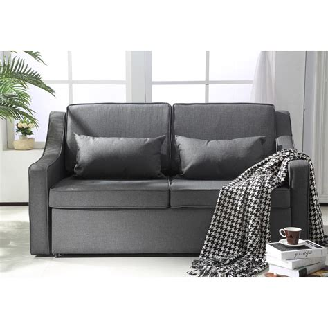 sofa with wheels sofa bed with wheels aosom ca