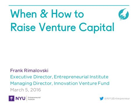 Linkedin Msf Mba Venture Capital when how to raise venture capital