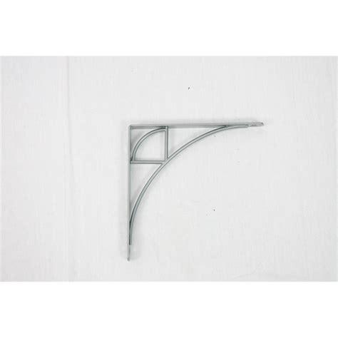 handy shelf 195 x 195mm silver curve bracket bunnings