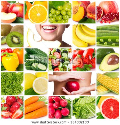 Healthy Food Stock Photos Images Pictures Shutterstock Healthy Food Collage