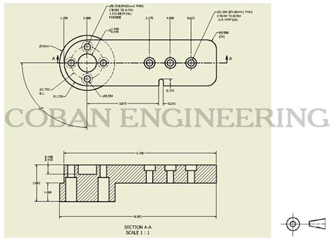 drawing section view rules technical drawings lines geometric dimensioning and