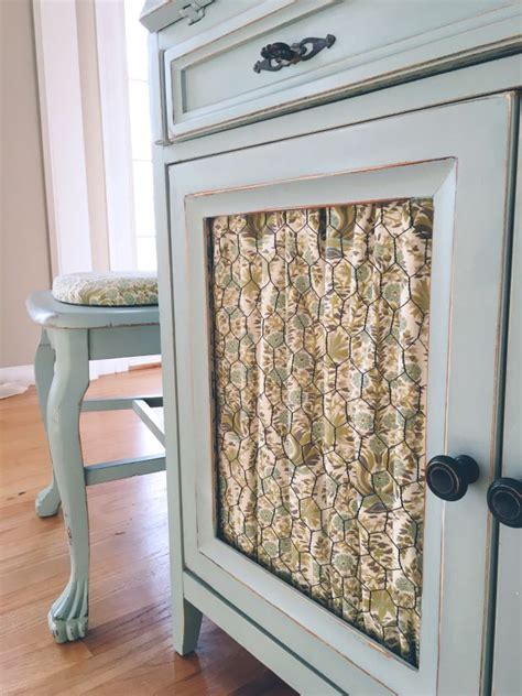 chicken wire cabinet doors chicken wire cabinet door with fabric pinteres