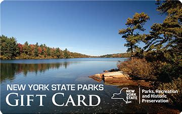 Reserve America Gift Card - cgrounds and cing reservations new york state parks