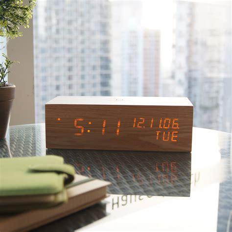 Jam Alarm Led Wood wood alarm clock led oak gingko eco touch of modern