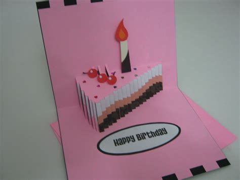 Pop Up Card Happy Birthday Template Handmade Greeting Card Crafts Bestfriends Made It Happy