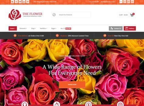 theme rose wordpress 25 best flower shop wordpress themes 2017