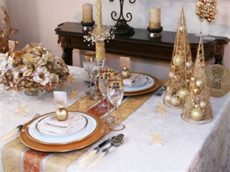 table decoration dining room accessories ideas gold christmas table