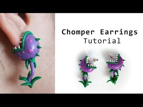 tutorial ngecheat plant vs zombie chomper earrings from plants vs zombies polymer clay