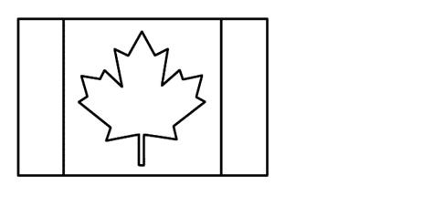 Canada Day Flag Craft Black And White Template Canada Flag Template