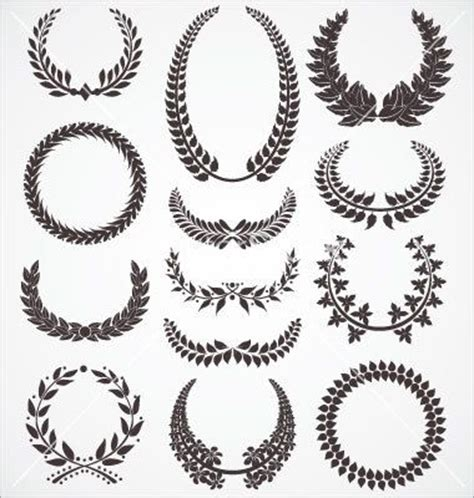 laurel leaf crown template laurel wreath wreaths and vector vector on