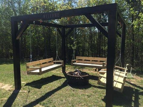 pit ideas with swings diy pit swing set house stuff design