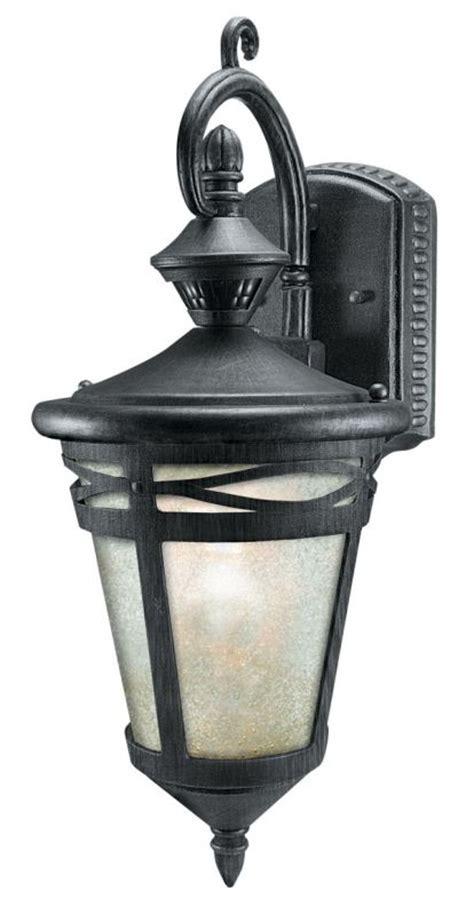 decorative motion detector lights heath zenith sl 4293 wi wrought iron marionette 1 light