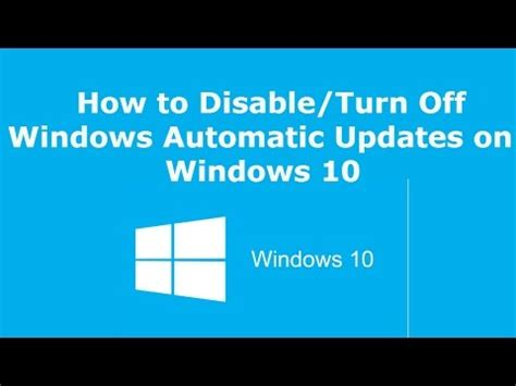 Turn Offs To Avoid by How To Disable Turn Windows Automatic Updates On Wi