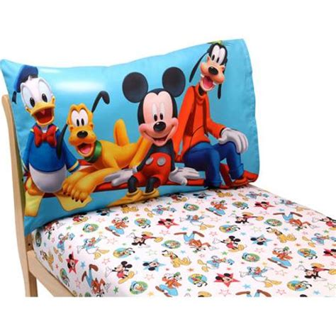 mickey mouse toddler bed walmart disney mickey mouse playground pals 2 piece toddler sheet