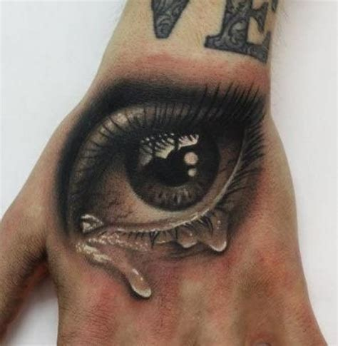 black and grey eye tattoo 10 unique 3d hand tattoos