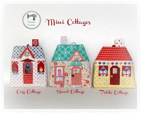 Paper Pieced Ornament Patterns - mini cottages by charise creates sewing pattern
