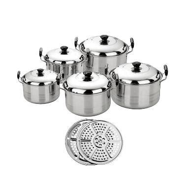 Promo Brand Kingko Panci Set 5 Plus Steamer jual kingko america high pots panci set steamer kukusan langseng harga kualitas