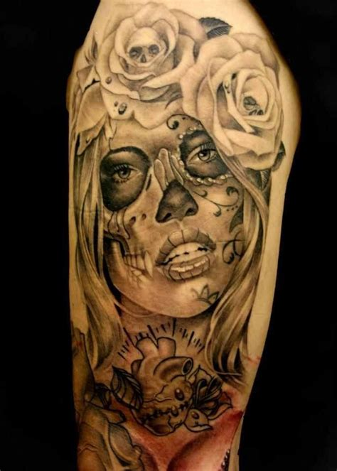 mexican skulls and roses sleeve 78 images about on japanese geisha