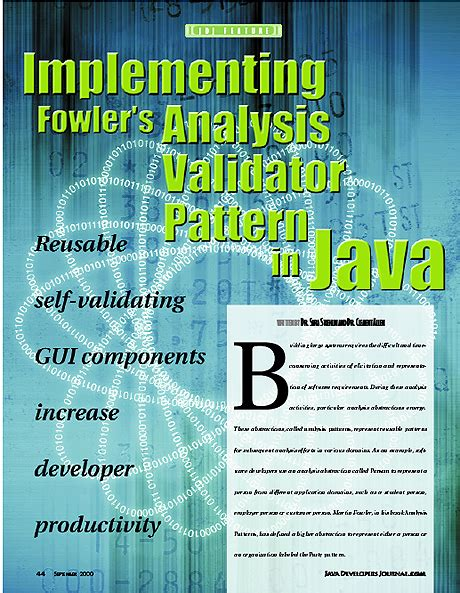 pattern analysis java implementing fowler s analysis validator pattern in java