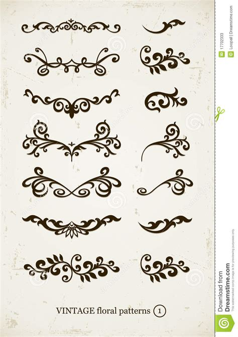 design patterns decorator pattern collections set of vintage decorative patterns stock photos image