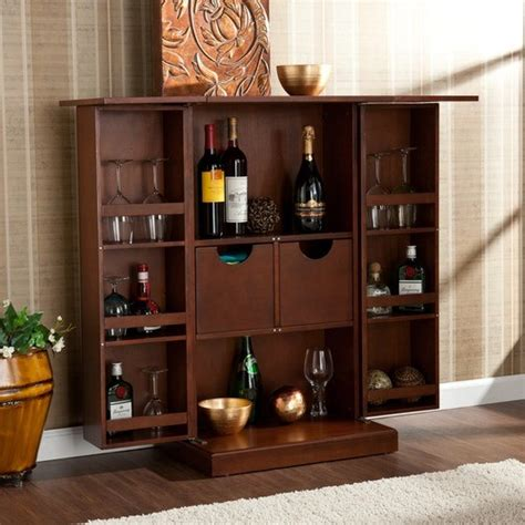Bar Wall Shelves Boswell Fold Away Bar Modern Display And Wall Shelves