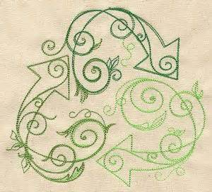 recycle tattoo designs recycle make plain canvas tote bags and embroider or