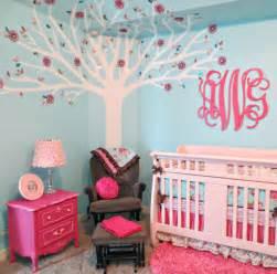 pink and aqua monogram nursery project nursery