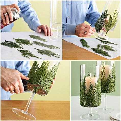 Holiday Craft Ideas On Pinterest - creative ideas diy evergreen christmas candle holder