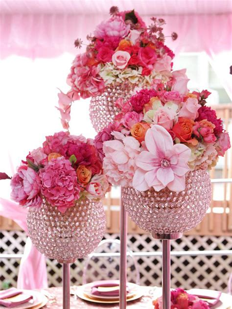 pink flower centerpieces for weddings wedding flower centerpieces using pink wedding flowers